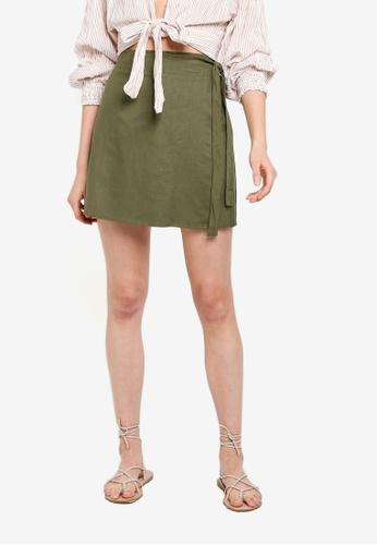Cotton On 綠色 交叉短裙 C586DAA7818F91GS_1