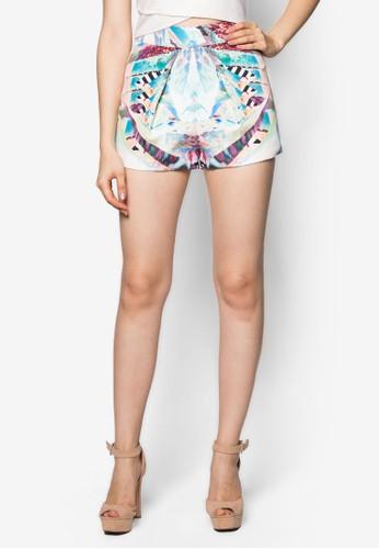 Marley 抽象彩色印花短褲, 服zalora 手錶 評價飾, 服飾