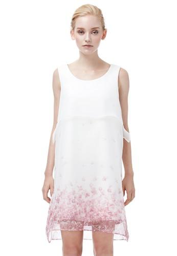 印花薄紗無袖洋裝, 服飾, esprit au及膝洋裝