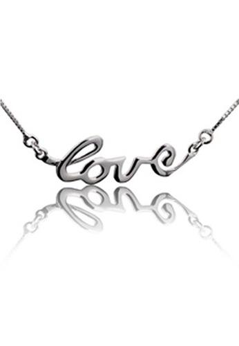 YOUNIQ silver YOUNIQ L.O.V.E 925 Sterling Silver Necklace YO999AC48SETMY_1