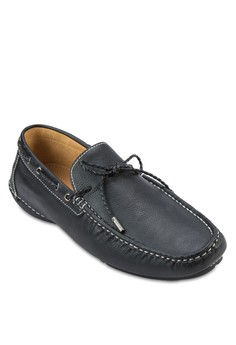 Front Tie Faux Leather Moccassins
