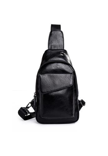 Lara black Men Zipper Messenger Bag 00220AC13E83A4GS_1