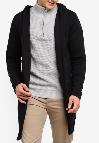 Indicode Jeans 黑色 連帽罩衫 3CE59AA666772CGS_1