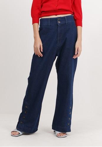 Bobo Tokyo blue Himari Pants - Indigo 2B8DDAA0A34BB1GS_1