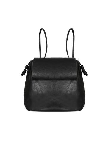 Lara black 2-Way Top Flap Backpack Sling Bag DB068AC0975341GS_1