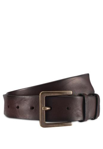 Calvin Klein brown Double Loop Belt - Calvin Klein Accessories 3D1DCACC8C9EC3GS_1