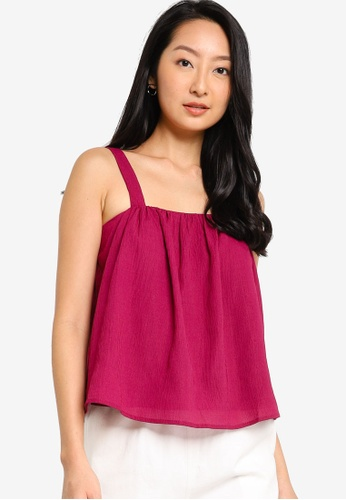 ZALORA BASICS purple Swing Top With Gathering A85ACAA3C7A1BBGS_1