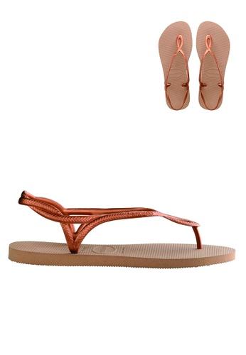 Havaianas Havaianas Women's Luna Sandals (Rose Gold) A5E85SHF6D2555GS_1