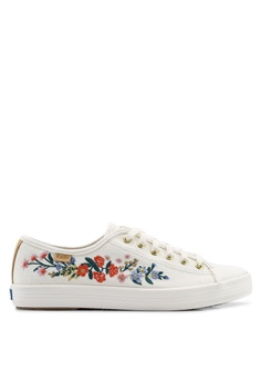 a54cdd37cb Keds white Kickstart Rifle Paper Co. Vines Embroidery Sneakers  5C4A8SH032FA11GS 1