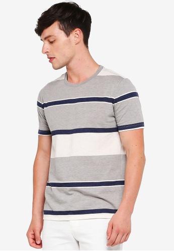 GAP grey Everyday Stripe T-Shirt E788CAA852C974GS_1