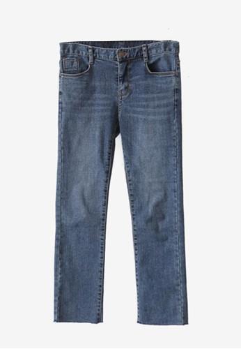直筒磨邊牛仔褲, zalora taiwan 時尚購物網服飾, 牛仔褲