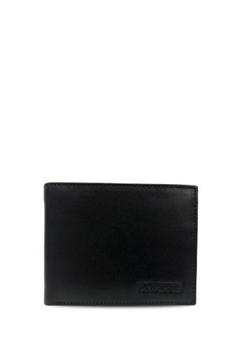 Santa Barbara Polo & Racquet black Santa Barbara Polo & Racquet Club Leather Bifold Wallet SA678AC0H8ZISG_1