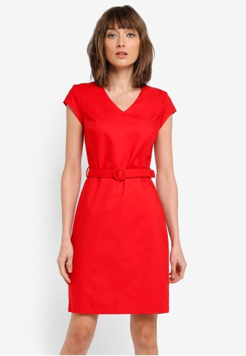 Mango red Belt Cotton Dress MA193AA0T0Y0MY_1