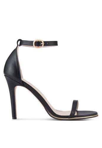 ZALORA black Ankle Strap Sandal Heels 9A47BSH451C7F9GS_1