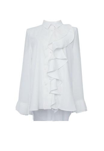 Twenty Eight Shoes white VANSA Ruffle Long Sleeves Blouse  VCW-Bs020 C27B8AA3553D0AGS_1