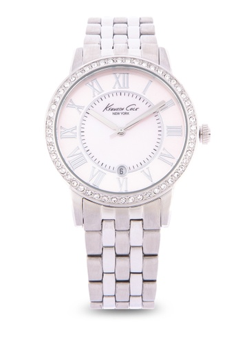 Kenneth Cole silver New York Women s Stainless Steel Case and Bracelet Watch  B3BB1ACFEDAB15GS 1 81ef0f01f
