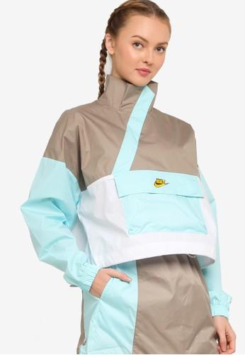 Nike green Women's Sportswear Icon Clash Anorak Jacket 0A693AAC90763FGS_1