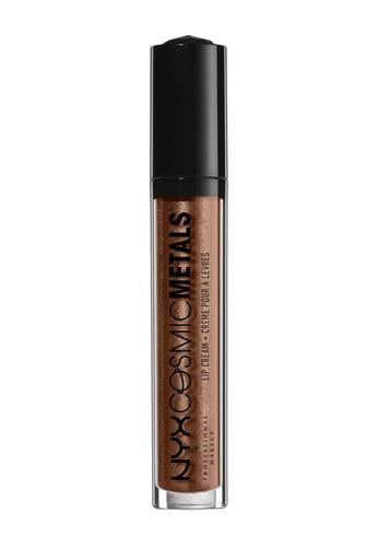 NYX Professional MakeUp brown Cosmic Metals Lip Cream - Metropolitan NY342BE0IU0RPH_1