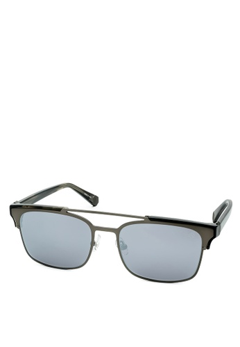 HEX EYEWEAR black and silver Lawyer - Cicero - Sunglasses - Made in Italy HE671AC2V1J6HK_1
