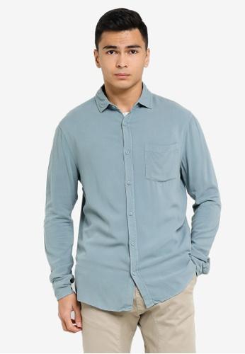 Cotton On blue Cayman Long Sleeves Shirt 89469AA1B1986FGS_1