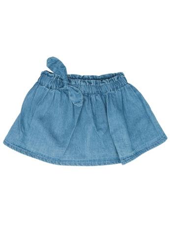 FOX Kids & Baby blue Plain Skirt D9692KA7E49555GS_1