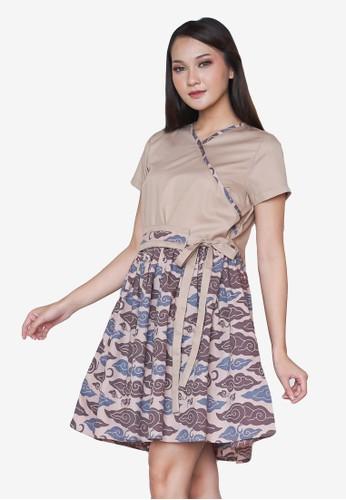 Benangsari grey Anggi Grey Blue Dress 1E6A2AAD52AAE3GS_1