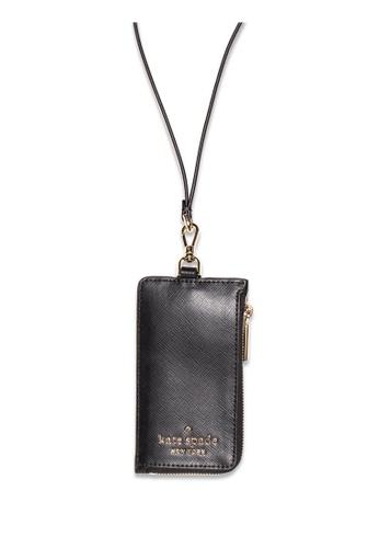 Kate Spade black Kate Spade Staci Card Case Lanyard - Black 193A2AC5C95B5CGS_1