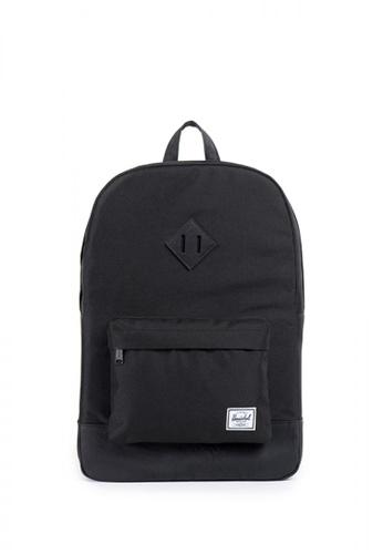 Herschel black Heritage Backpack 208DEAC6445F36GS_1