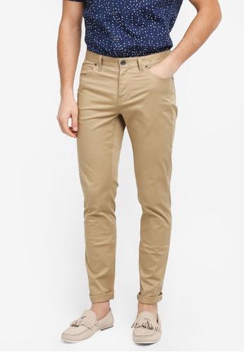 G2000 brown 5 Pocket Informal Slim Pants E316CAA46456FCGS_1