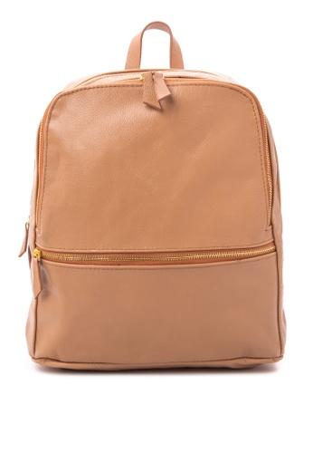 Julianne Candice PH brown Solid Tone Backpack JU216AC62ZLHPH_1