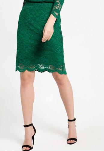 EPRISE green Skirt Midi EP457AA75WYEID_1