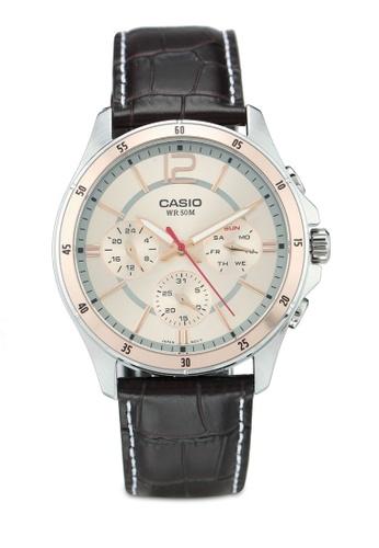 Casio silver Casio Watch MTP-1374L-9AVDF F6225AC7D69D11GS_1