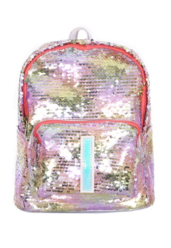 Adkidz multi ADKIDZ Reversible Sequin Backpack with Initial I A976FKC3F7E22FGS_1
