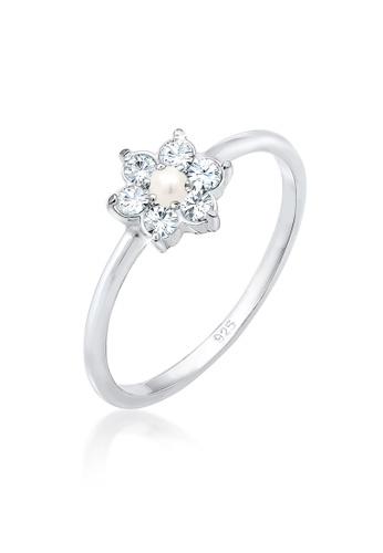 Elli Germany white 925 Sterling Silver Glamour Swarovski® Crystal Ring EL474AC75GSIMY_1