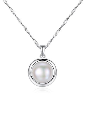 A.Excellence white Premium White Pearl Elegant Necklace F3729ACBD9C389GS_1