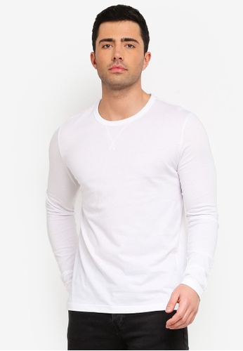 0fb9586a6954 Clothing, Shoes & Accessories Mens T-Shirt by Brave Soul Prague Cotton Long  Sleeved Crew Neck ...