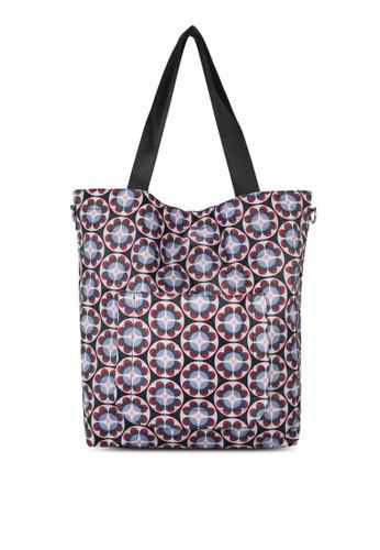Cluster 可折疊印花肩背包zalora時尚購物網的koumi koumi, 包, 手提包