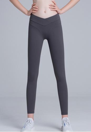 Trendyshop grey High-Elastic Fitness Leggings 1764DUSA907D74GS_1