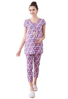 f4c7a8794bb Mamaway purple Minnie Dot Pattern Maternity & Nursing Pajamas/ Sleepwear  Set CCCFEAA89C4080GS_1