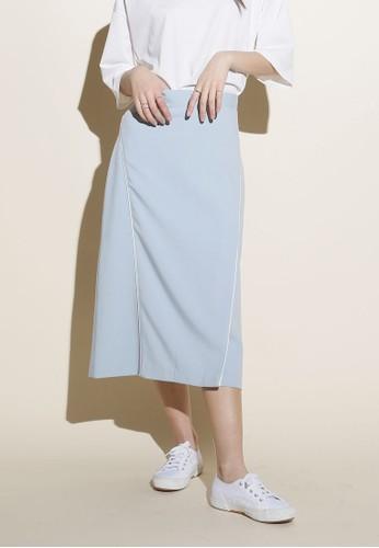 開衩滾邊及膝短裙、 服飾、 裙子Among開衩滾邊及膝短裙最新折價