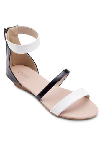 Emilia 雙帶楔型跟涼鞋, 韓系時尚esprit鞋子, 梳妝