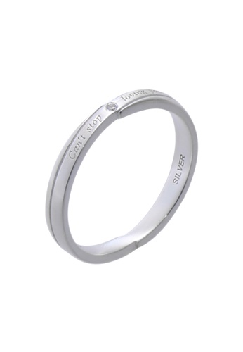 The LoveMark silver Loving You Ring with Artificial Diamond for Men lr0008m TH516AC02UZPPH_1