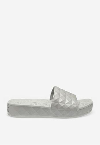 ASH 銀色 Splash - 銀色浮凸圖案便鞋 B8198SHCBC43FAGS_1
