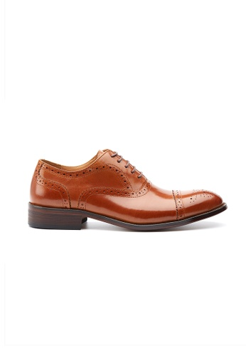 Kings Collection brown Gallipoli Classic Oxford Shoes 820ABSHFFA6BFEGS_1