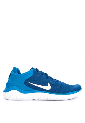 Nike white and blue Men's Nike Free RN 2018 Running Shoes B8129SH5426EBEGS_1