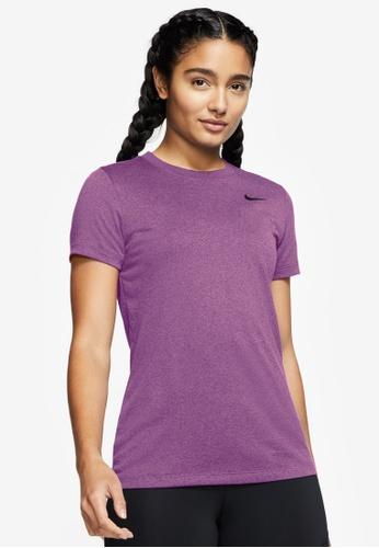 Nike purple Women's Dri-Fit Training Crew Tee 63803AA83EF99FGS_1