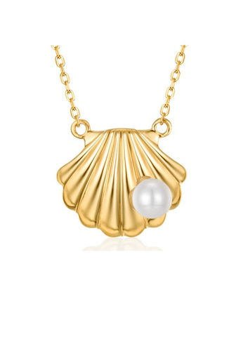 SUNSET gold Premium 925 Sliver Pearl Necklace A49F0AC7E03DFCGS_1