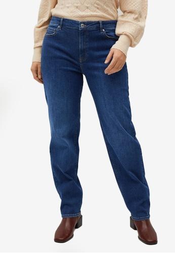 Violeta by MANGO 藍色 Plus Size Straight Cut Jeans 565E7AA9882611GS_1