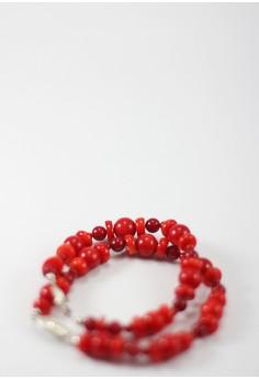 Irrorata Red Coral Bracelet