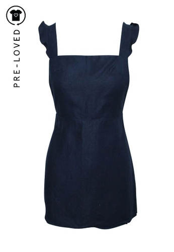 Reformation blue Pre-Loved reformation Mini Linen Dress with Open Back 0616BAA6DBDB63GS_1